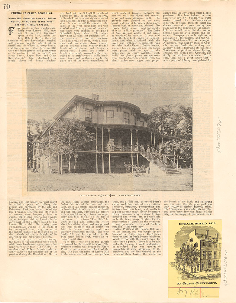Established 1812 by George Glentworth.