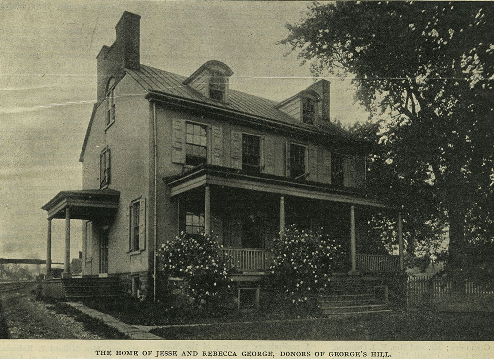 The home of Jesse and Rebecca George, doners of George's Hill.