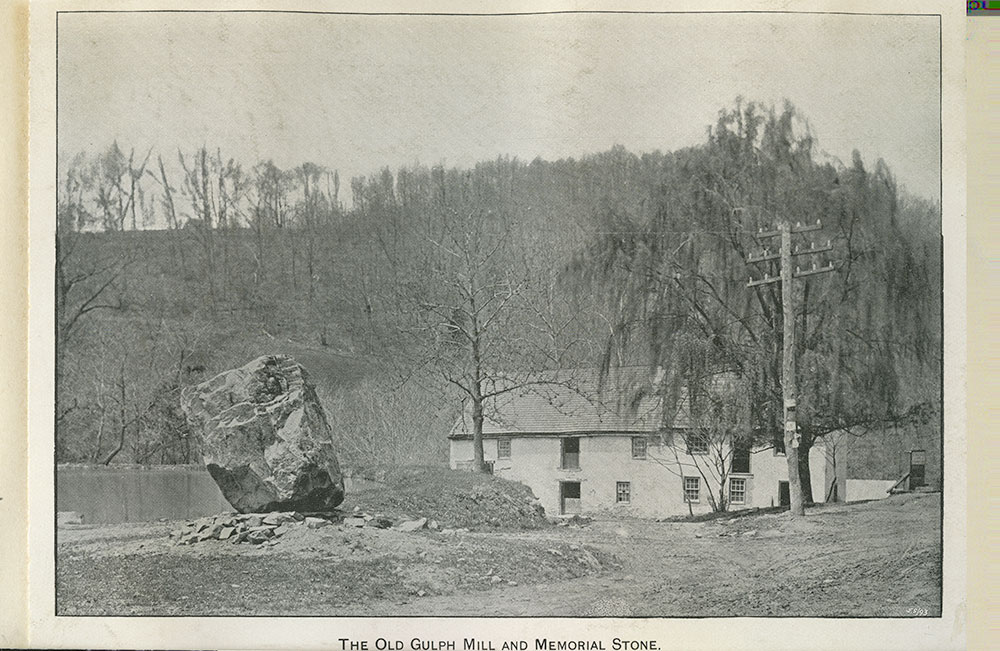 The Old Gulph Mill and Memorial Stone.