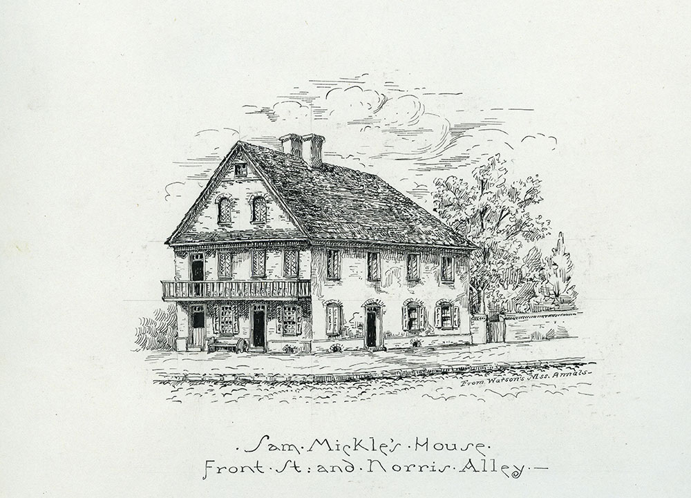 Sam Mickle's House. Front Street & Norris Alley.