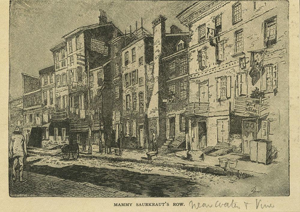 Mammy Saurkraut's Row.