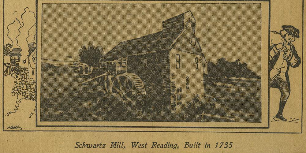 Schwartz Mill, West Reading, Built in 1735.