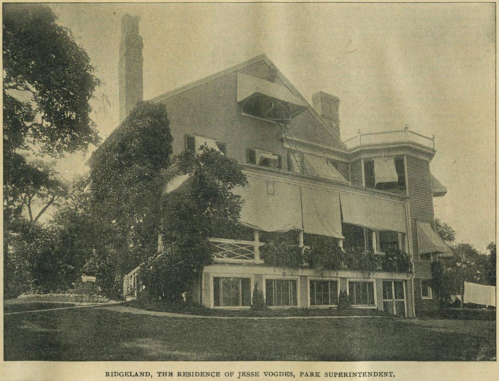 Ridgeland, The Residence of Jesse Vogdes, Park Superintendent