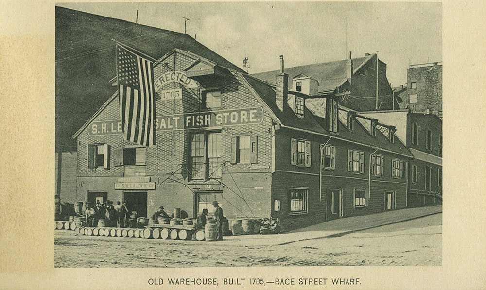 Old Warehouse, Built 1705, - Race Street Wharf.