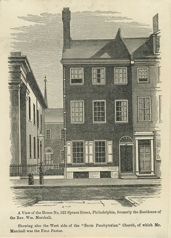 A View of the House No. 322 Spruce Street, Philadelphia.