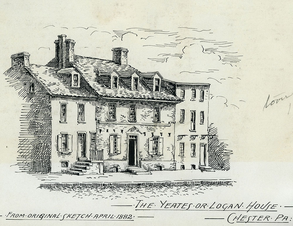 The Yeates or Logan House. Chester, Pa.