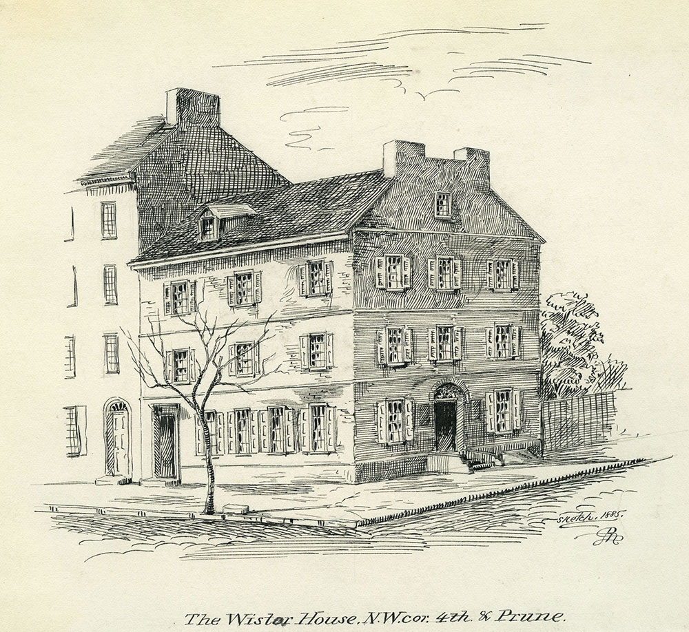 The Wistar House. N. W. cor. 4th & Prune.