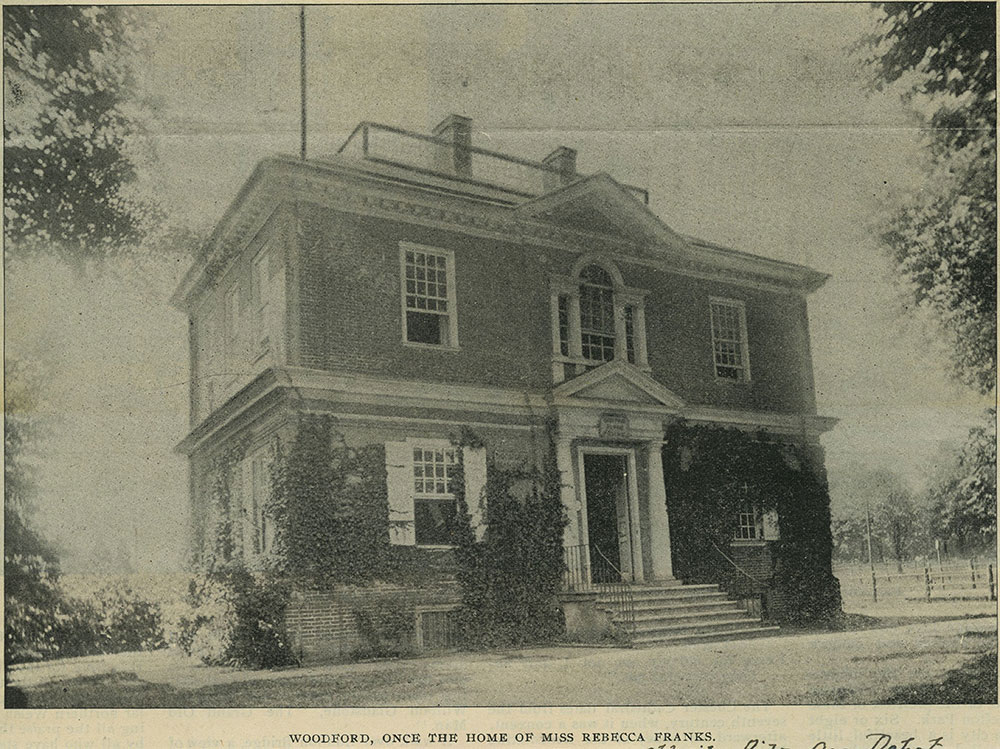 Woodford, once the home of Miss Rebecca Franks