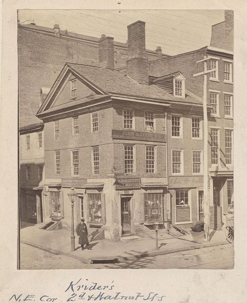 Krider's. N.E. Corner 2nd & Walnut Streets.
