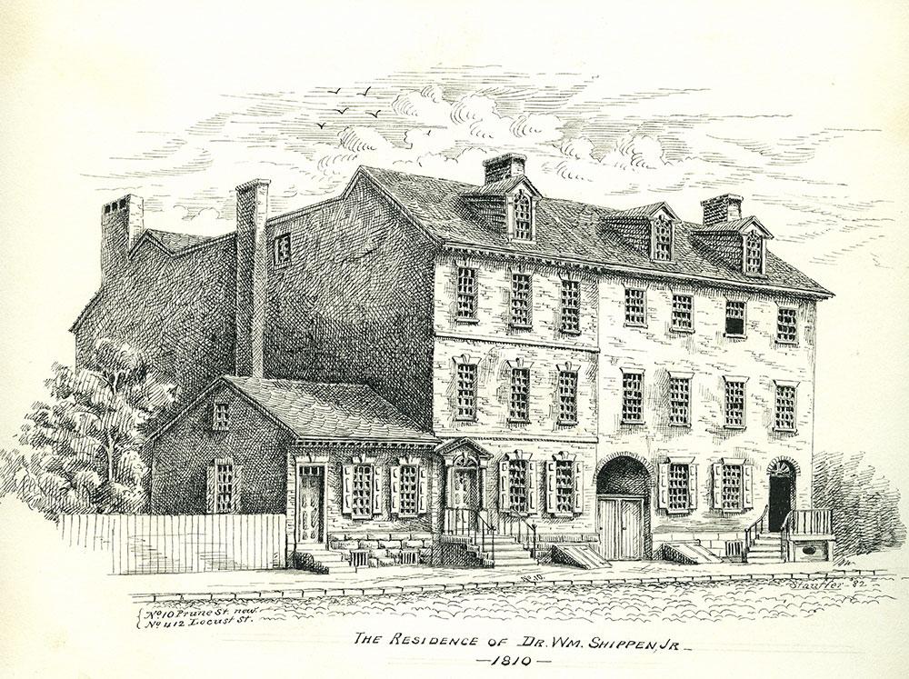 The Residence of Dr. Wm. Shippen, Jr. 1810.