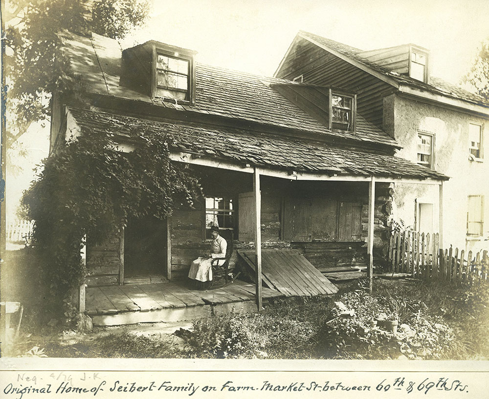 Original Home of Siebert Family on Farm.