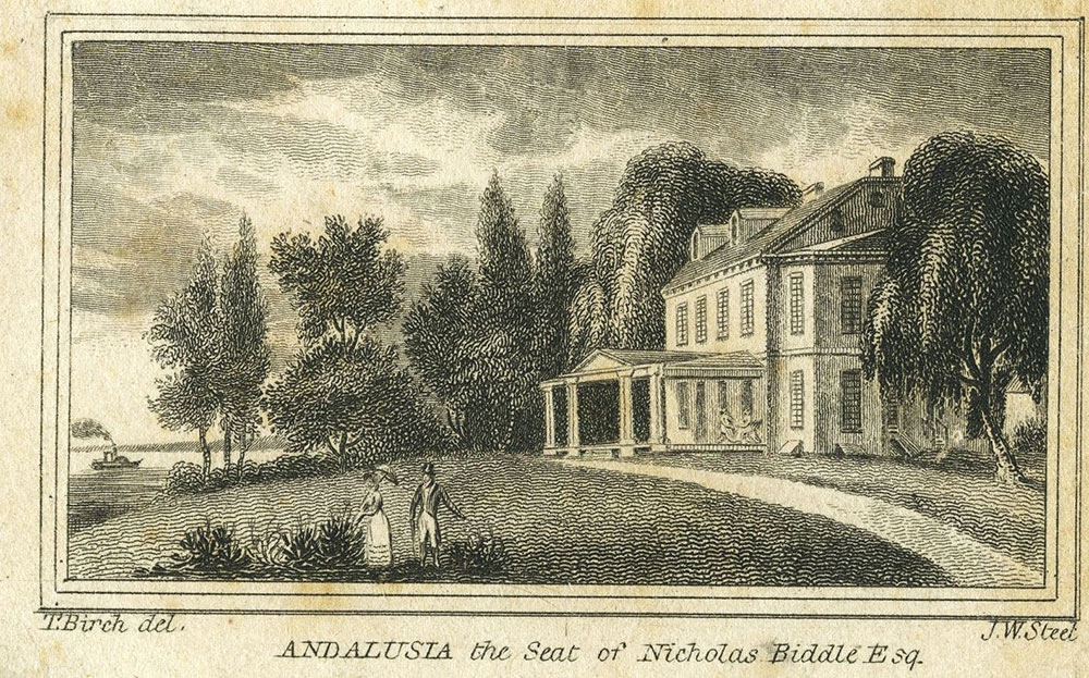 Andalusia The Seat Of Nicholas Biddle Esq Digital Collections Free Library
