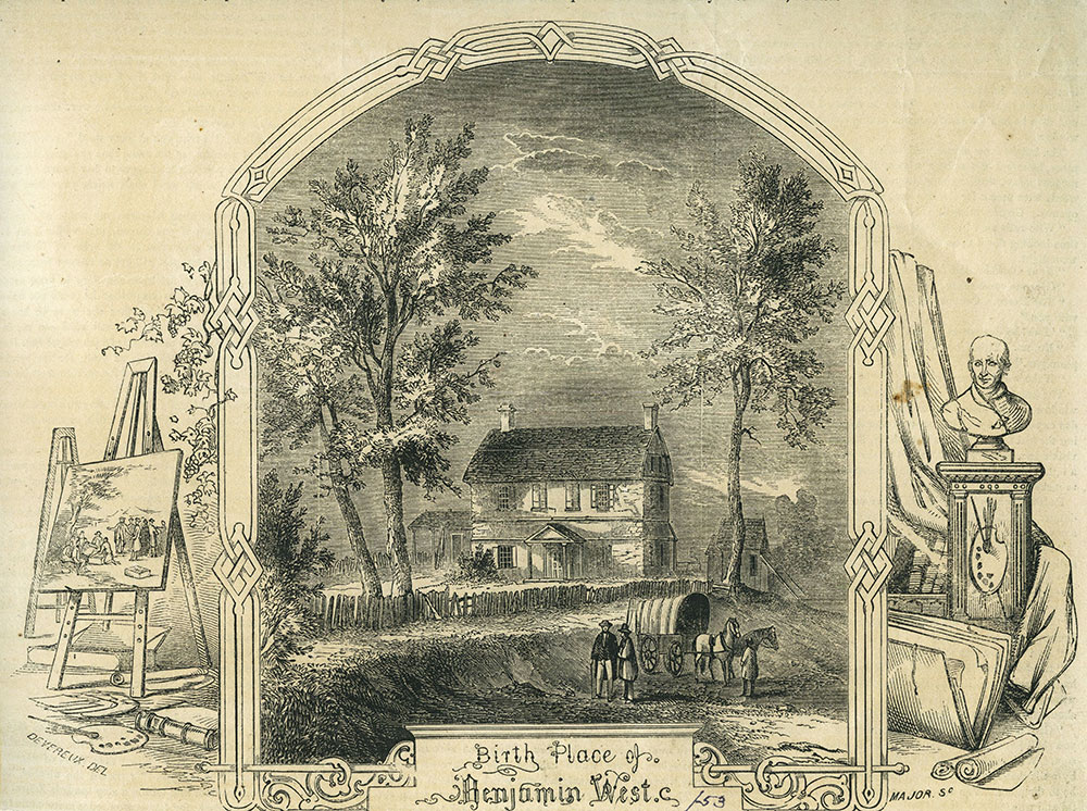Birth Place of Benjamin West.