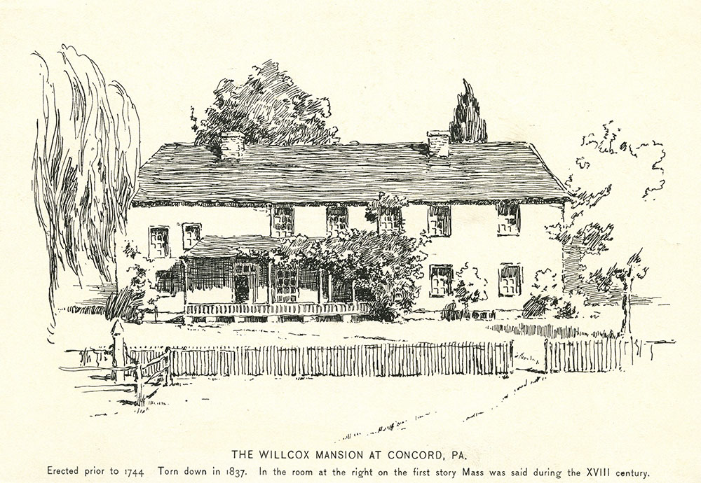 The Wilcox Mansion at Concord, Pa.