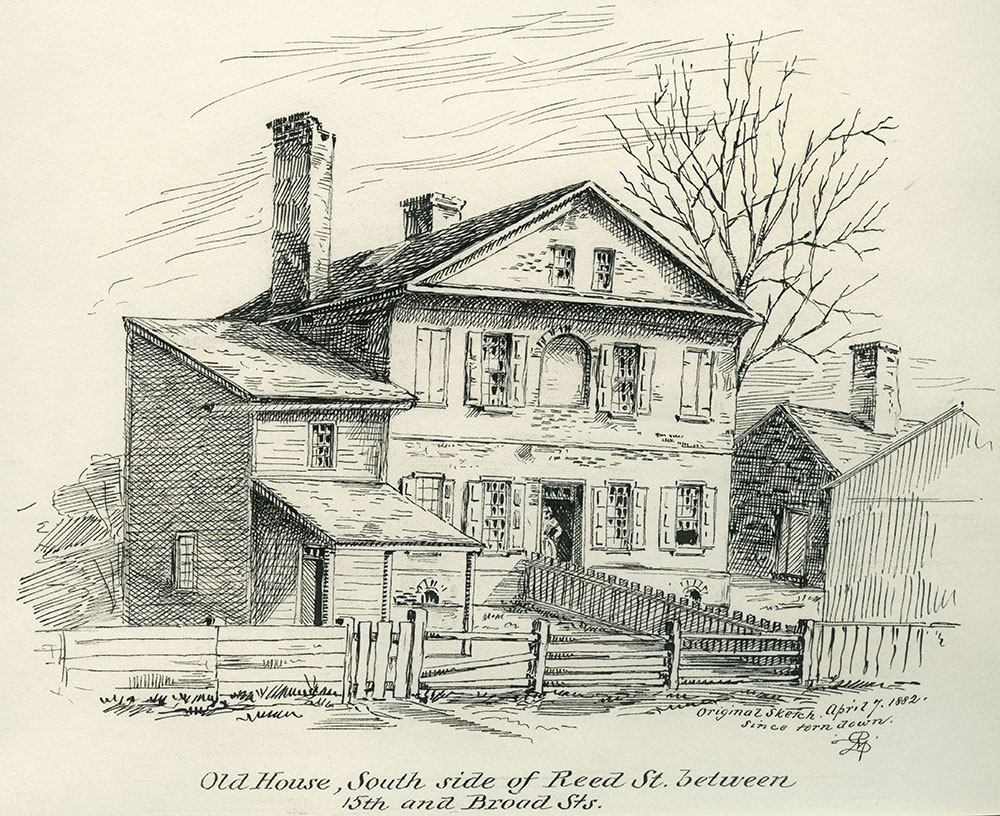 Old House, South Side of Reed Street, between 15th and Broad Streets