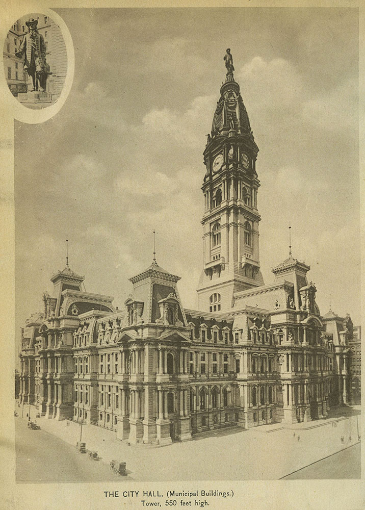 The City Hall, (Municipal Buildings.) Tower, 550 feet high.
