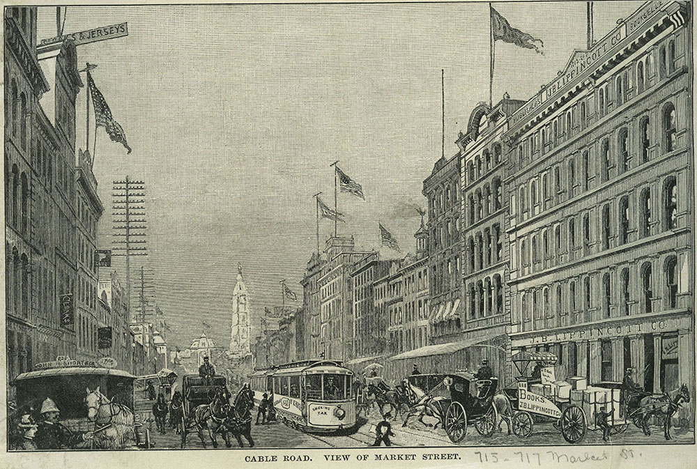 Cable Road. View of Market Street.