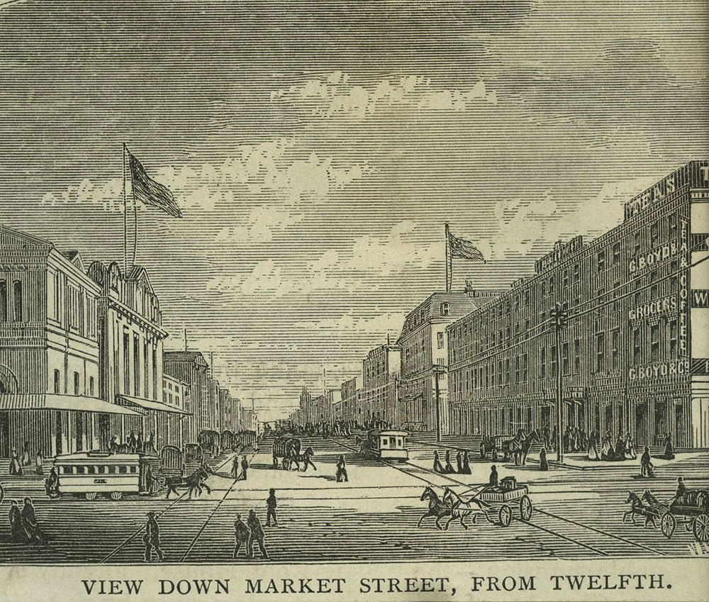 Market Street, from Twelfth Street, Looking East.