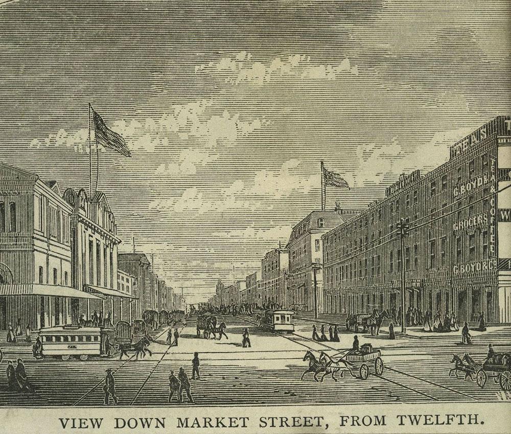 Market Street, from Twelfth Street, Looking East.