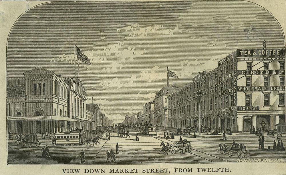 View Down Market Street, From Twelfth.