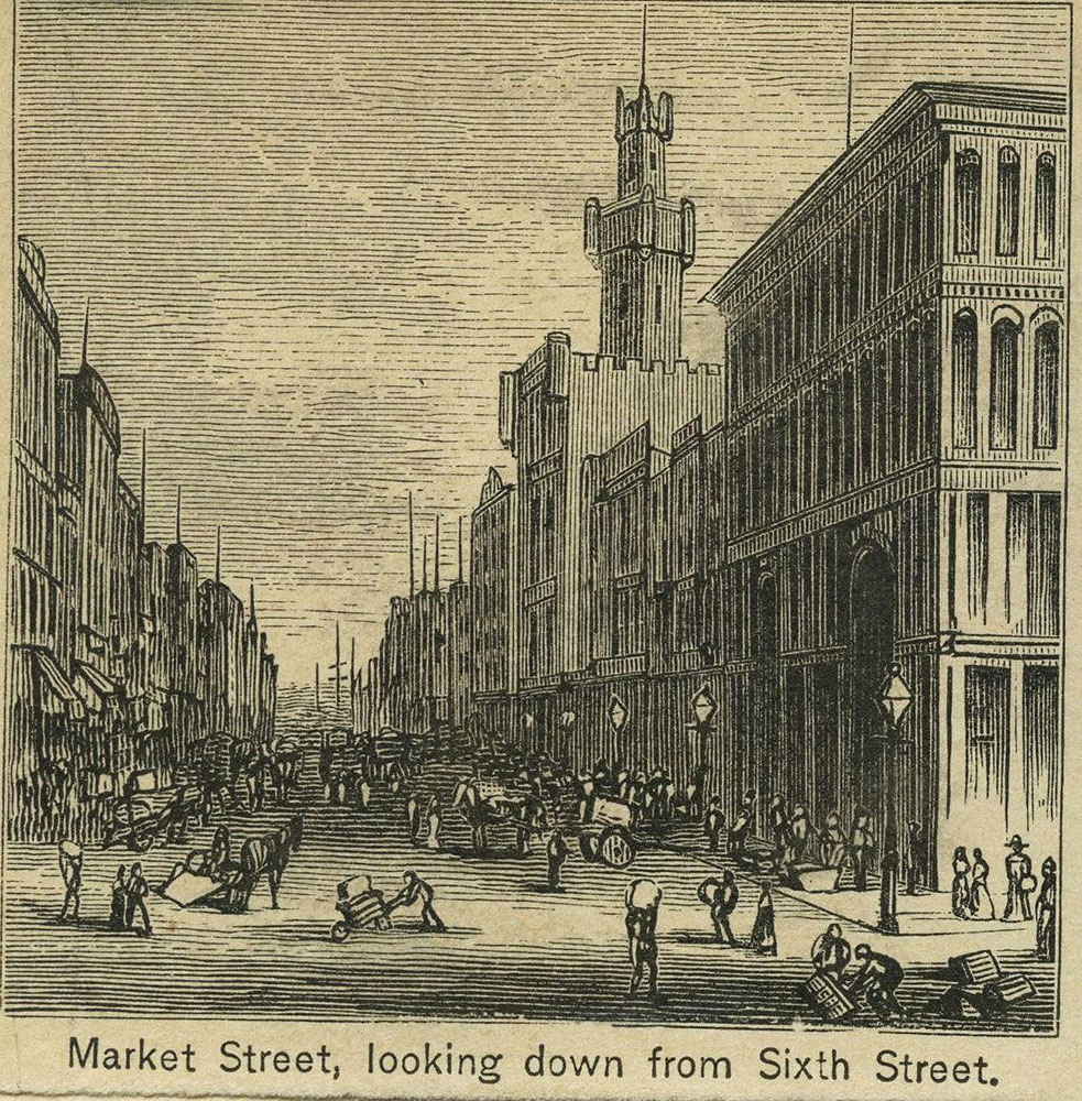 Market Street, looking down from Sixth Street