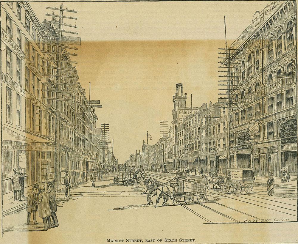 Market Street, east of Sixth Street.