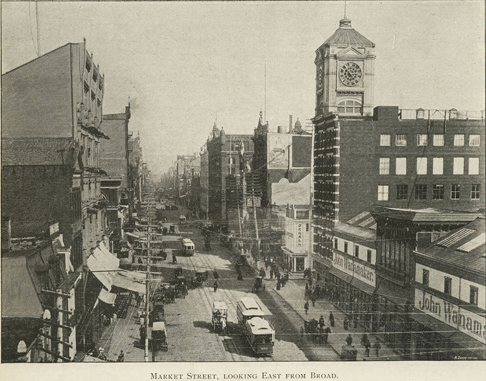 Market Street, Looking East from Broad.