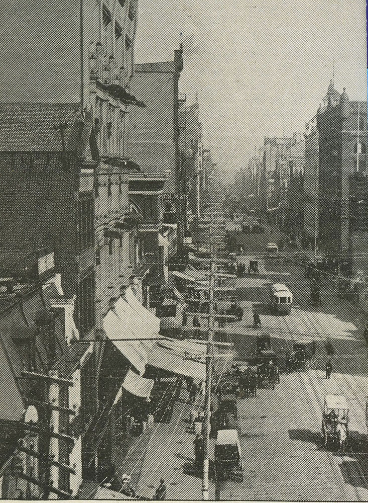 12th & Market Streets. Looking East.