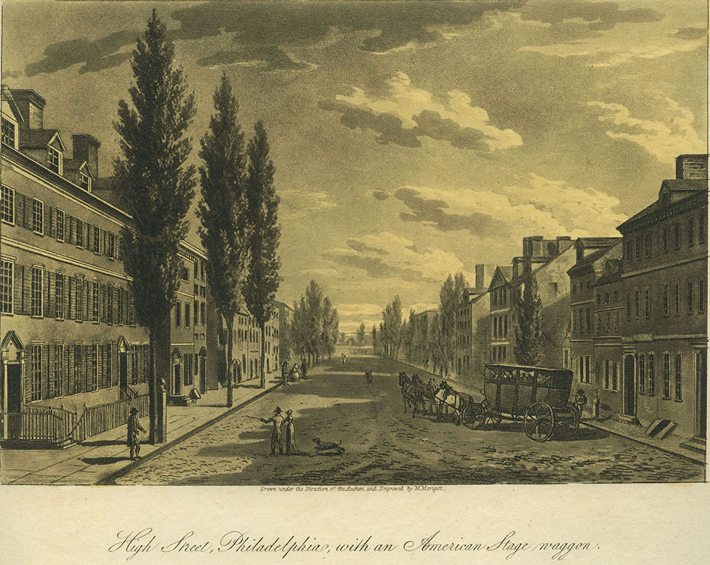 High Street, Philadelphia, with an American Stage Wagon.