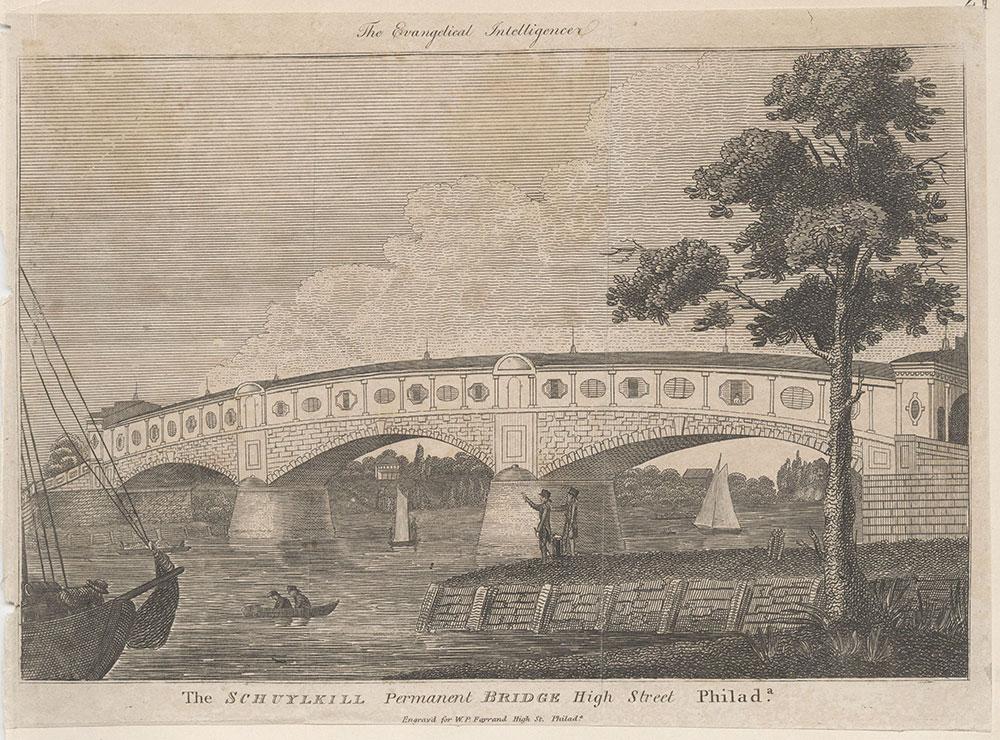 The Schuylkill Permanent Bridge High Street Philadelphia.