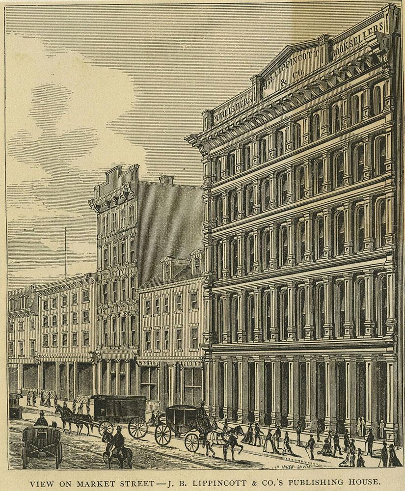 View on Market Street - J. B. Lippincott & Co.'s Publishing House.