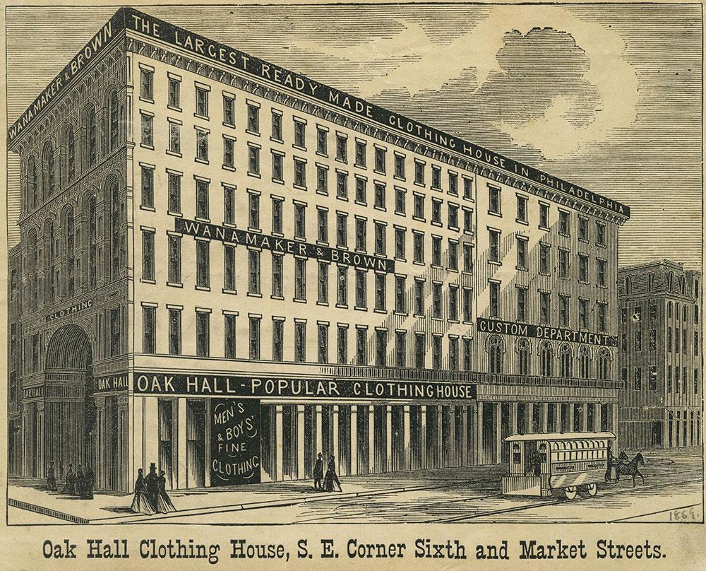 Oak Hall Clothing House.