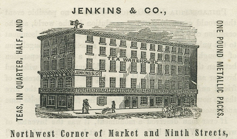 Jenkins & Co., Northwest Corner of Market and Ninth Streets.