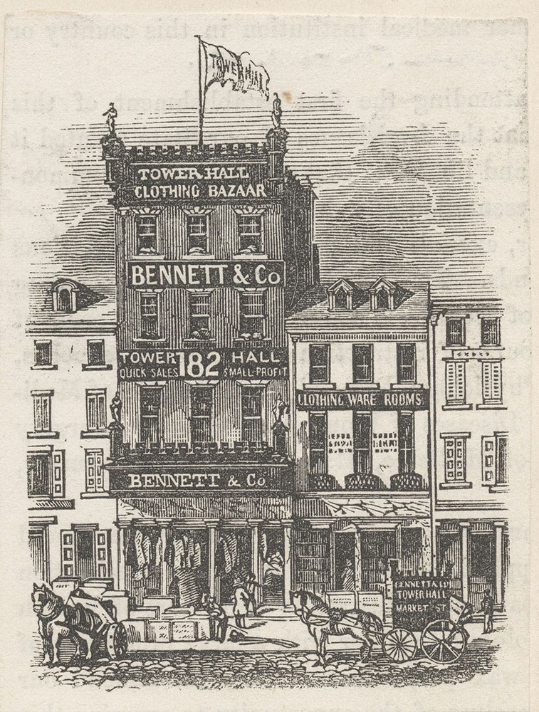 Bennet & Co. Tower Hall Clothing Bazaar.