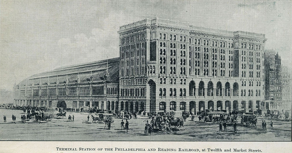 Terminal Station of the Philadelphia and Reading Railroad, at Twelfth and Market Streets.