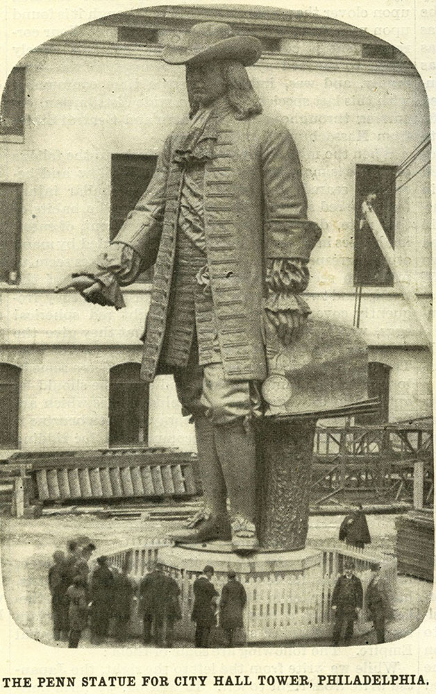 The Penn Statue for City Hall Tower, Philadelphia.