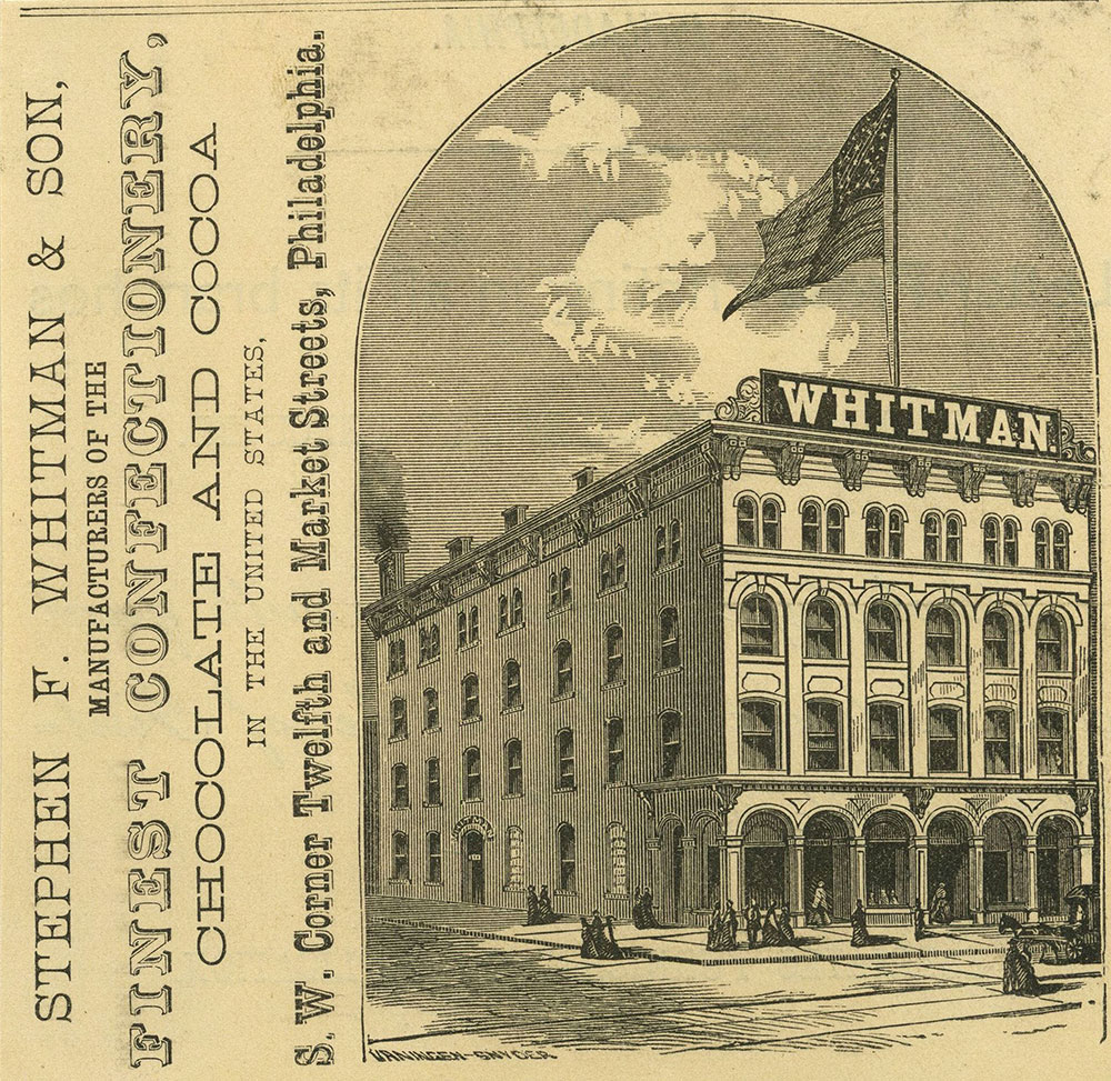 Stephen F. Whitman & Son. Confectionery Manufacturer.