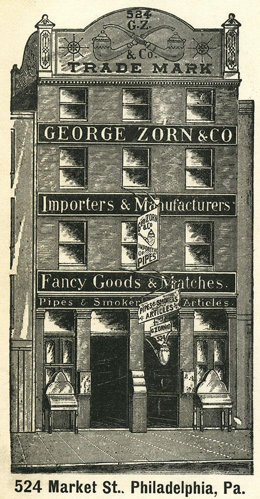 George Zorn & Co. Trade Card.