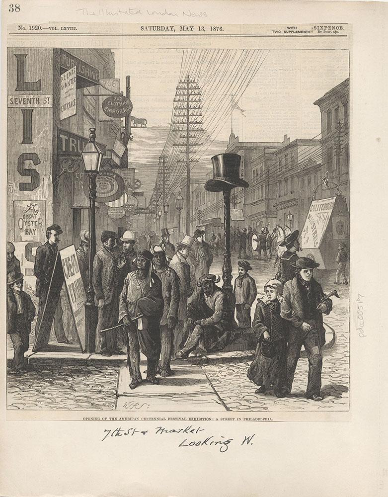 Castner Scrapbook v.6, Market Street, page 38