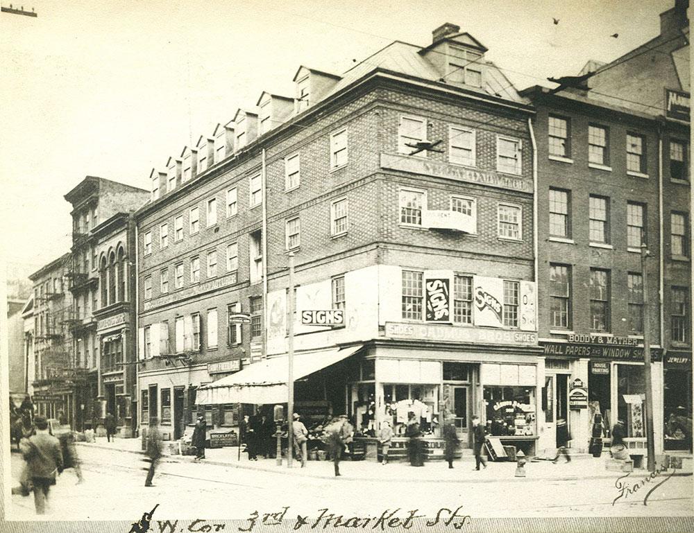 S. W. Corner 3rd & Market Streets