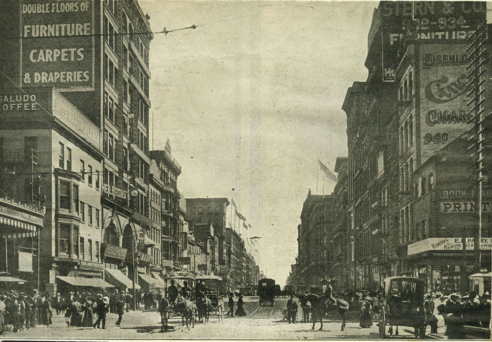 Market (High) Street, looking East from Tenth Street.