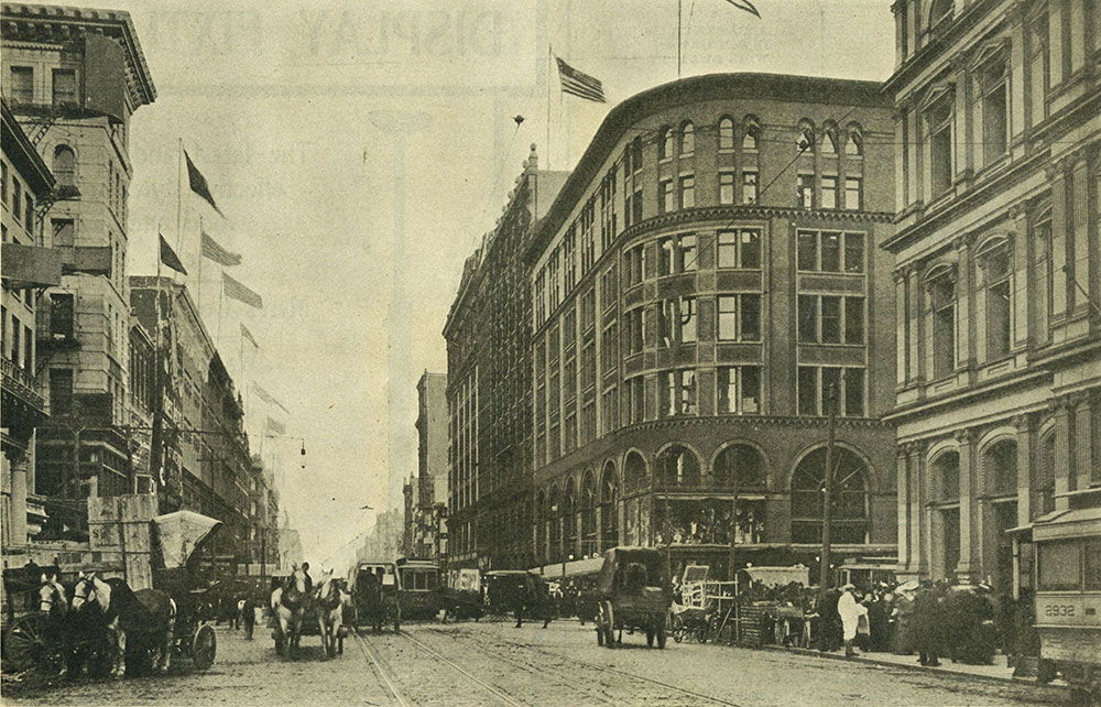 Looking East on Market Street from Ninth Street, in 1907.