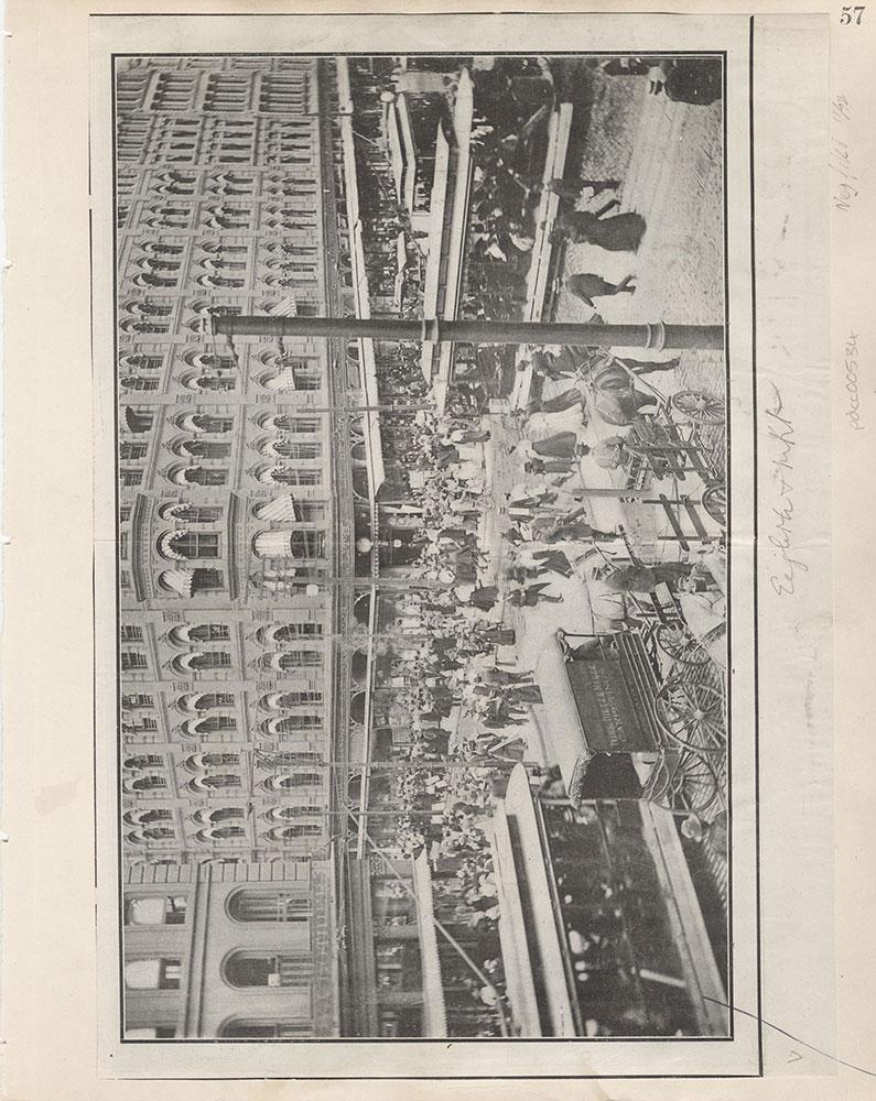 Castner Scrapbook v.6, Market Street, page 57