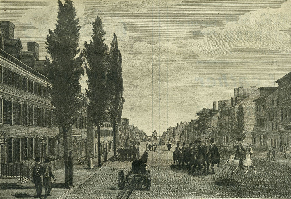 High (Market) Street, from Ninth Street, Philadelphia in 1800.
