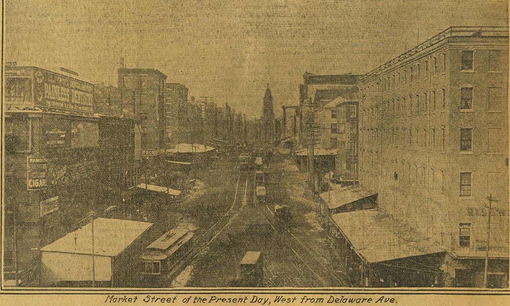 Market Street of the Present Day, West from Delaware Ave.