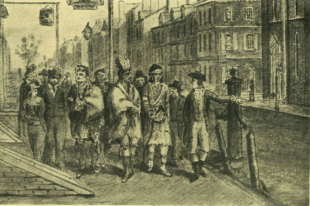 Second and Market Streets, 1799.