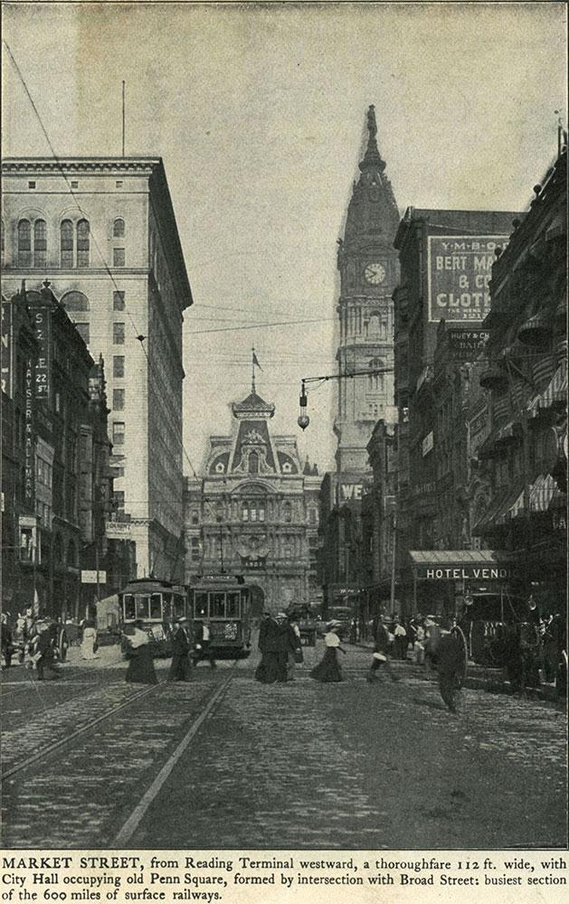 Market Street, from Reading Terminal westward.