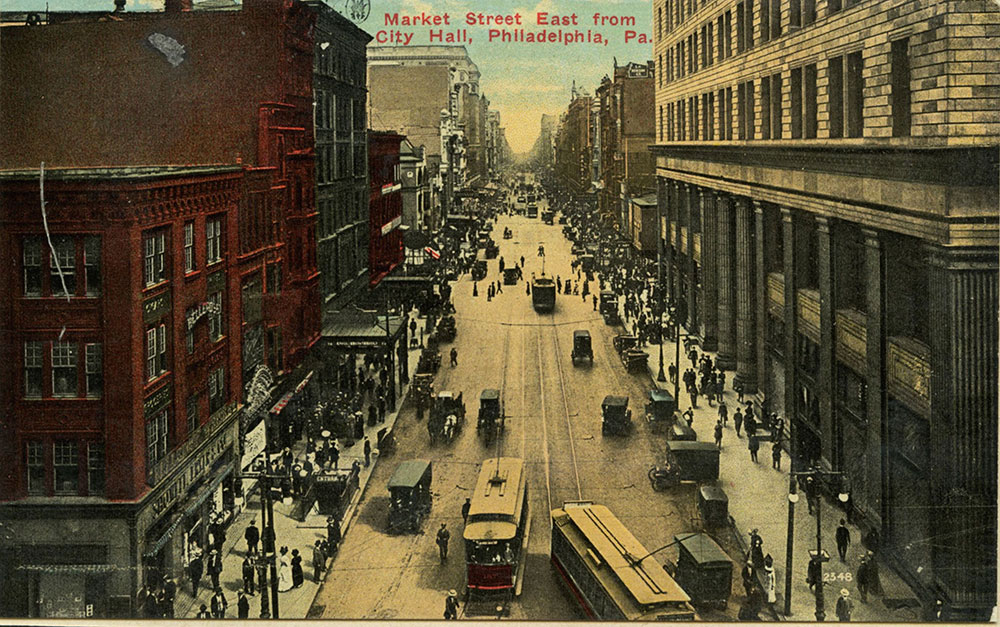 Market Street East, from City Hall, Philadelphia, Pa.