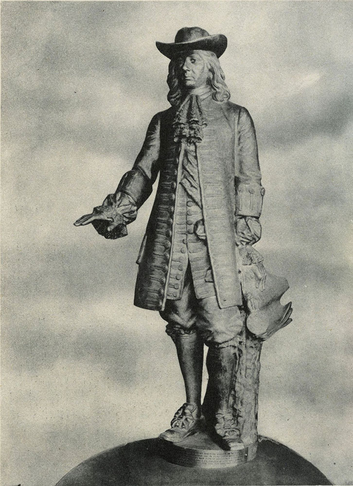 The William Penn statue atop City Hall was designed by A. M. Calder.