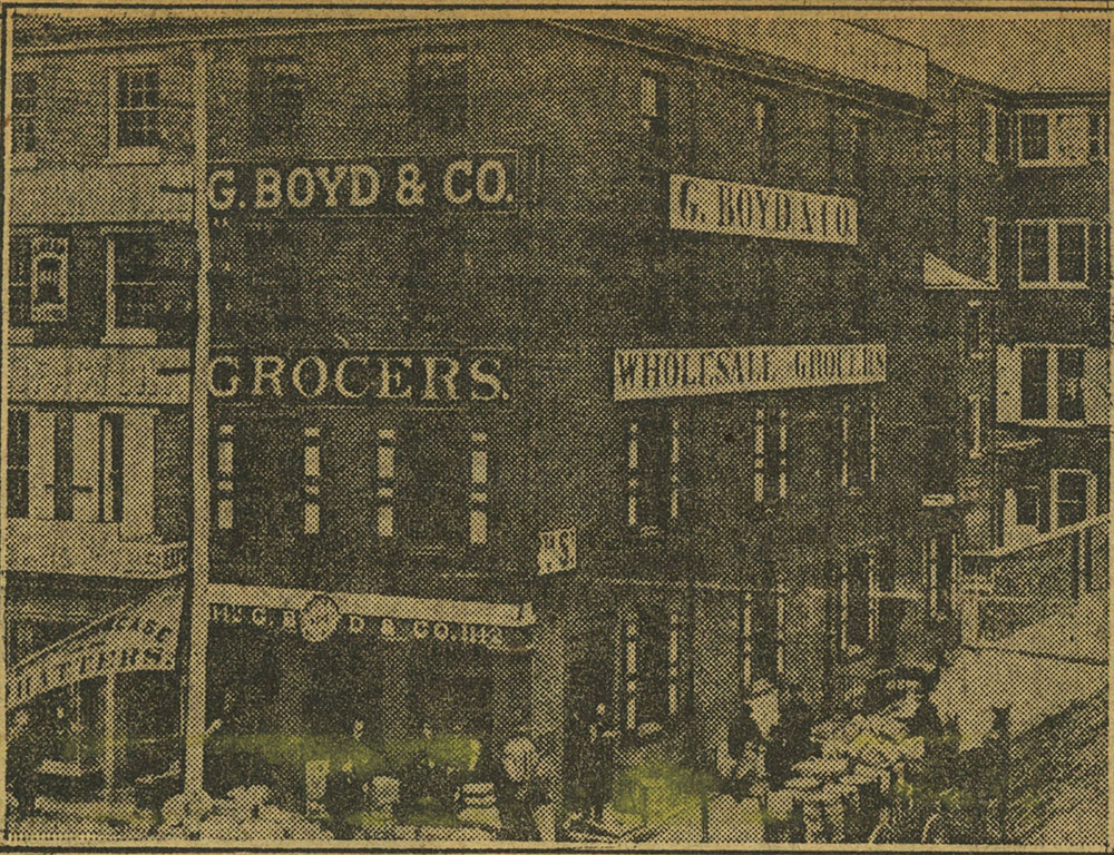 Twelfth and Market Streets, in 1875.